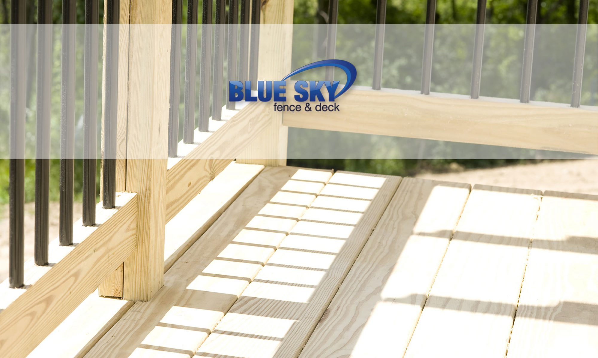 Blue Sky Fence  Deck